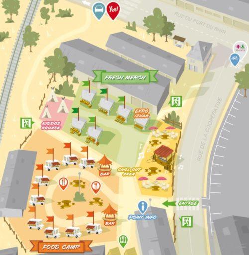 Plan du site - Street Bouche Festival