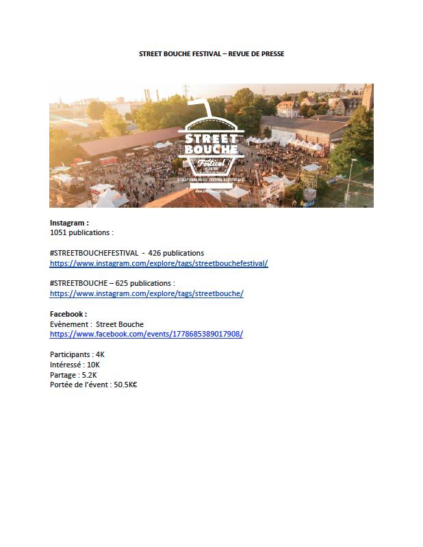 Revue de Presse Street Bouche Festival 1 2016 - Festival #1 - 2016