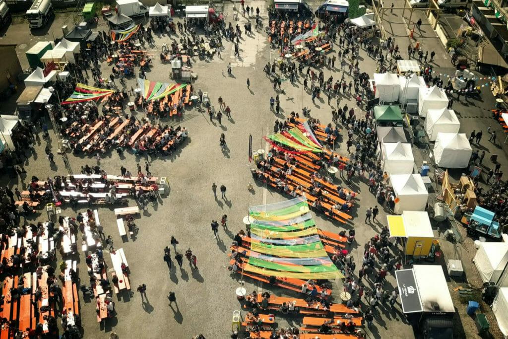 Street Bouche festival #2 2017 Vue du ciel drone