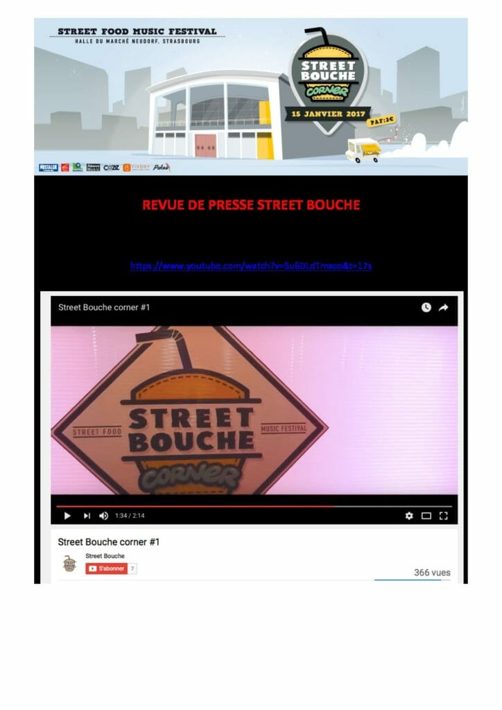 Revue de Presse Street Bouche Corner 1 2017 pdf 724x1024 - Revue de Presse Street Bouche Corner #1 2017
