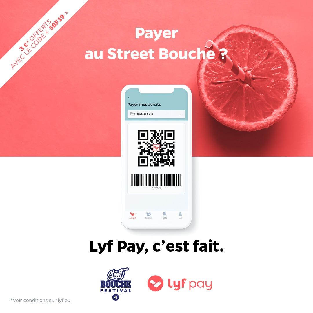LyfPay payer au street bouche festival paiement mobile